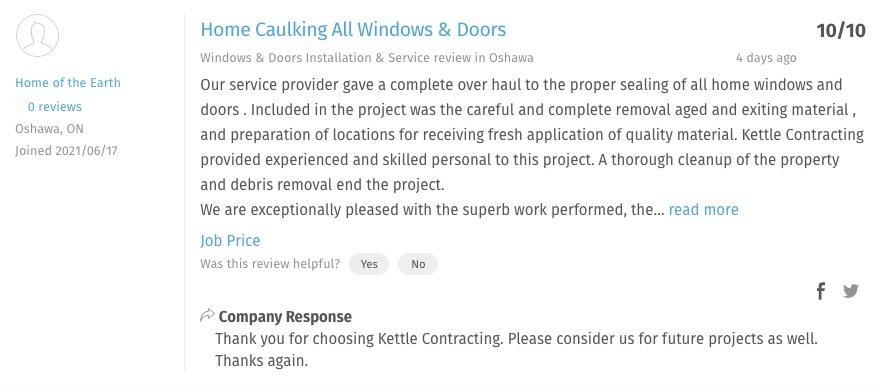 home window caulking service near me
